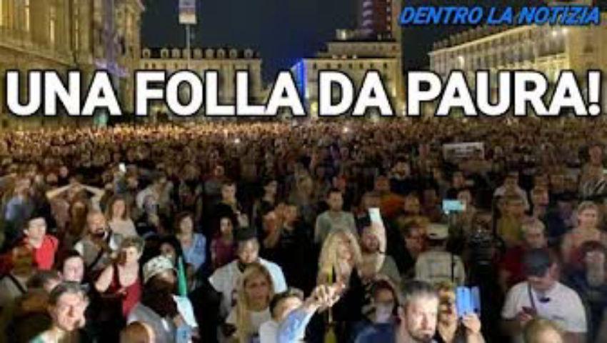 22.07 TORINO 5000 PERSONE IN PIAZZA! UGO MATTEI: DIRITTO FONDAMENTALE DI RESISTENZA, NO GREEN PASS!! - PeerTube.it