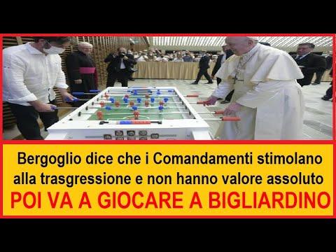 Bergoglio invita cestinare i comandamenti perchè invitano alla trasgressione.